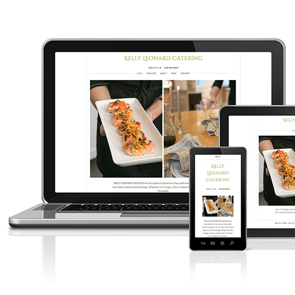 Kelly Leonard Catering web site