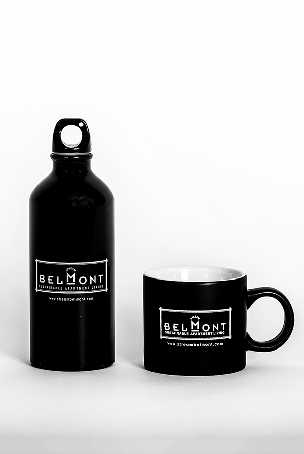 Stream Belmont water bottle and mug